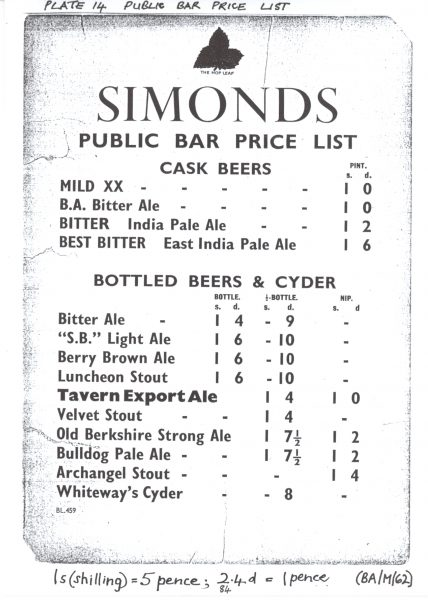1926 Price List (1)