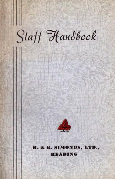 1959 Staff Handbook cover