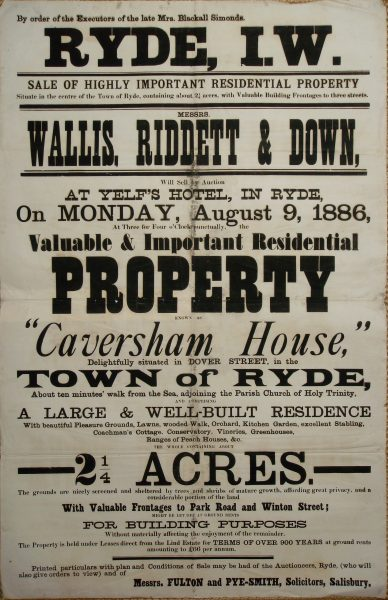 Caversham House auction 1886