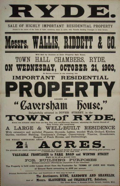 Caversham House auction 1903