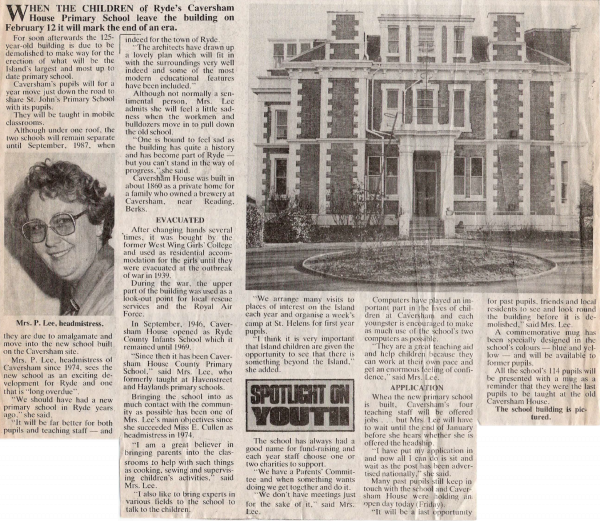 Caversham Newspaper Report 17 01 1986 (1)