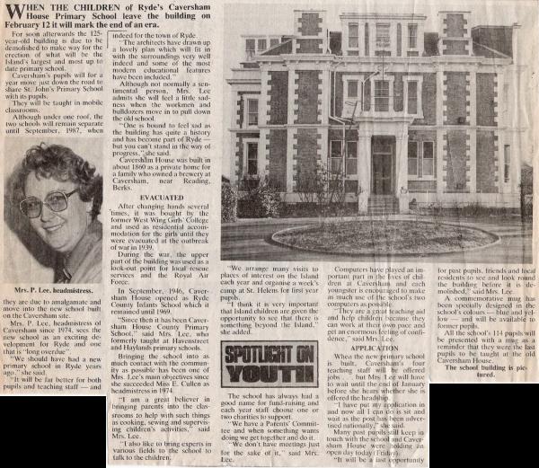 Caversham Newspaper Report 17 01 1986 (1)