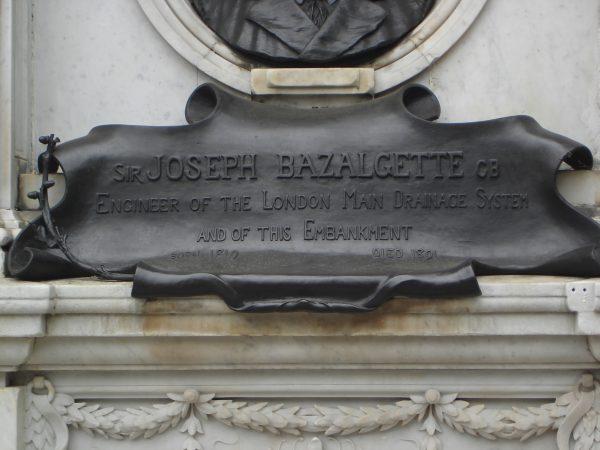 GBS Bazalgette statue base