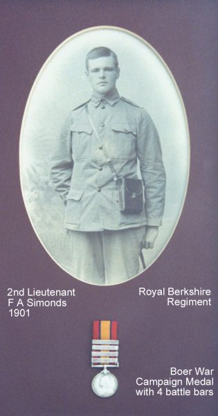 Simonds FA 1901 medal