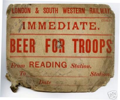 Beer for troops 1913