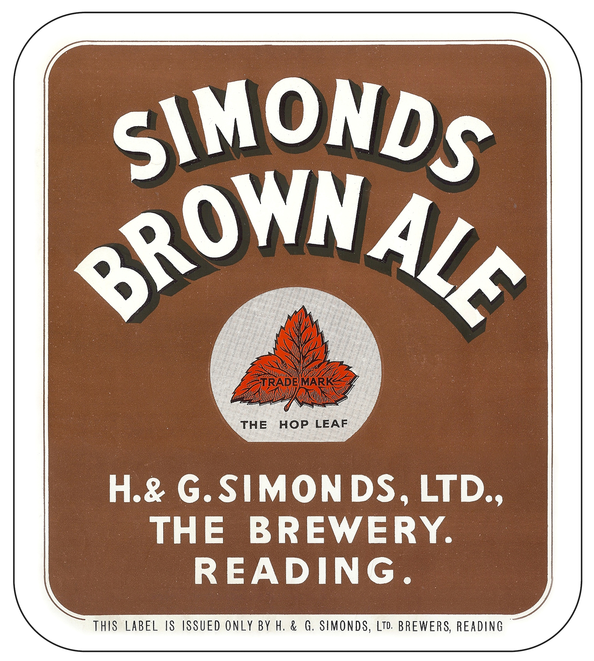 Brown Ale display label 24.2 x 27.4cms