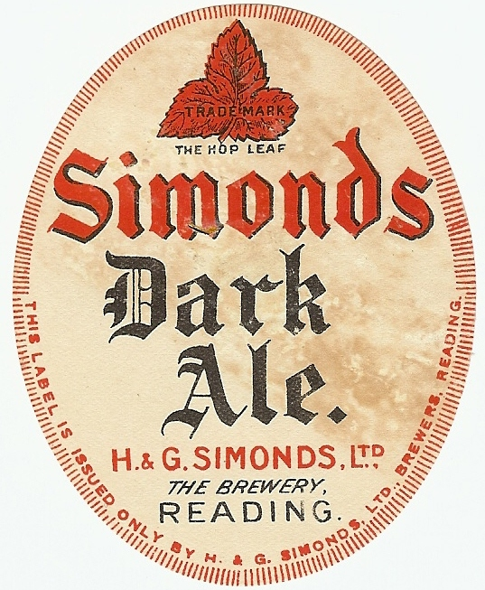 Dark Ale 1 1920's oval