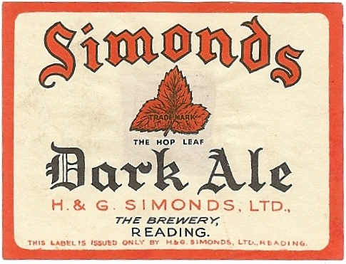Dark Ale 4 1918 small wartime label