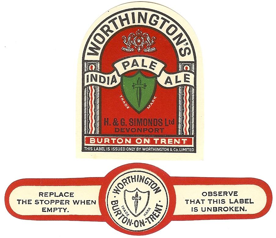 Devonport Worthingtons with neck label