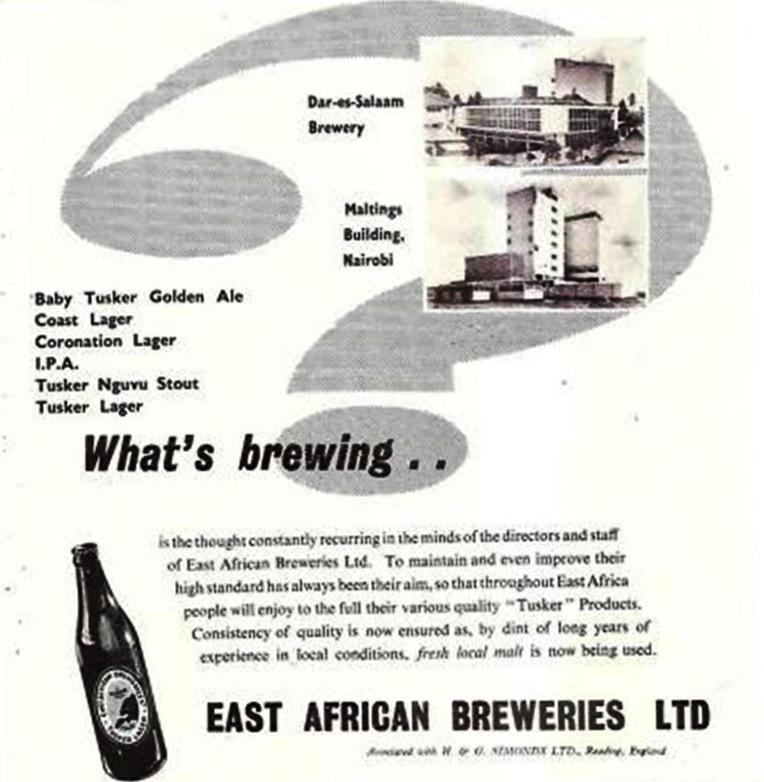 East African Brewery advert