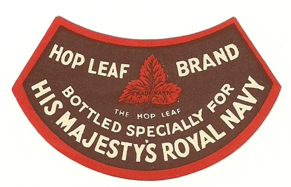 Hop Leaf Beer neck label for RN