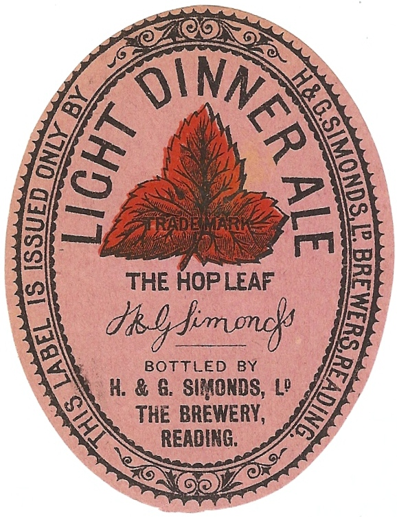 Light Dinner Ale 4 Oval 1930's