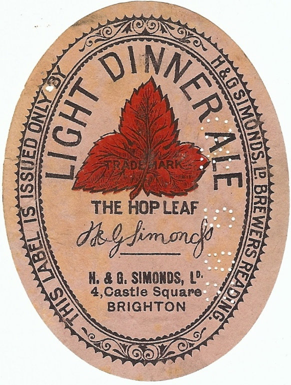 Light Dinner ale 5 Brighton 1920's