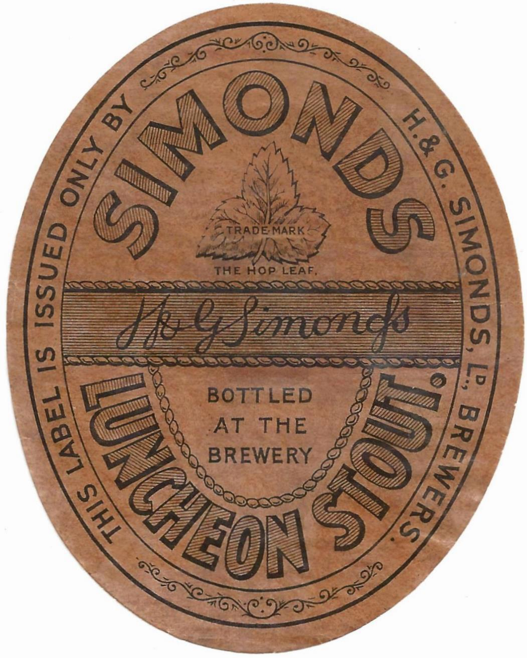 Luncheon Stout 9 oval 1930's