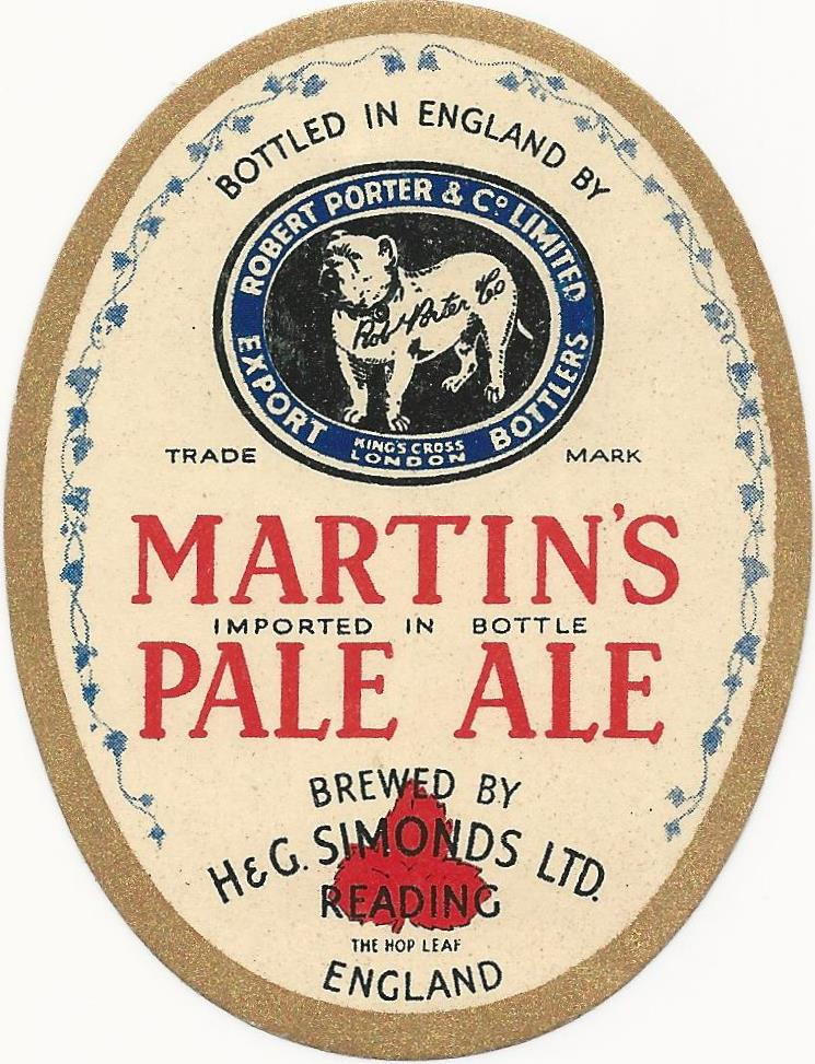 Martins Pale Ale 1 bottled