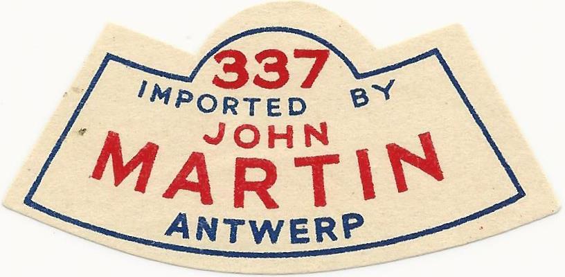Martins Pale Ale 4 neck label