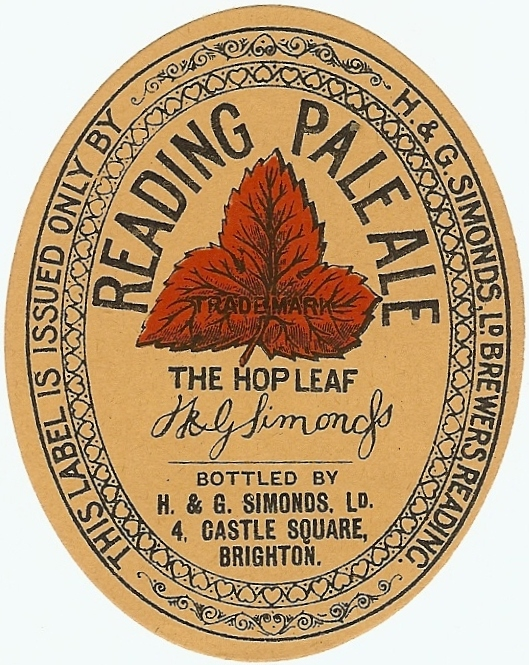 Reading Pale Ale 3 1930's Brighton