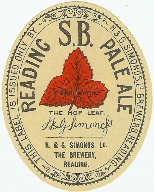 Reading SB Pale Ale 1930's