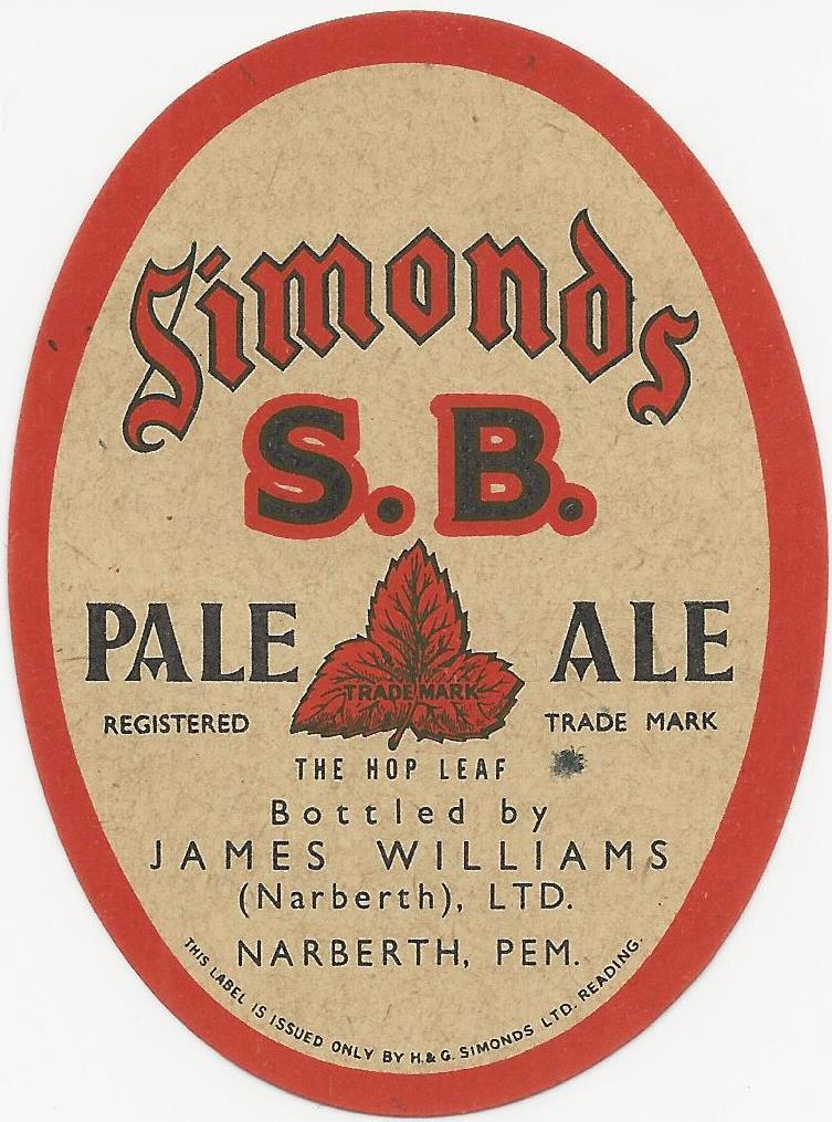 SB Pale Ale 5 oval 1930's