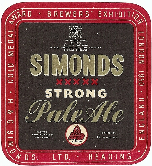 Strong Pale Ale 12oz 1950 gold medal