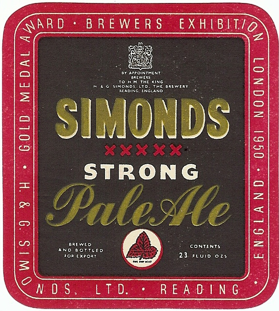 Strong Pale Ale 23oz 1950 gold medal