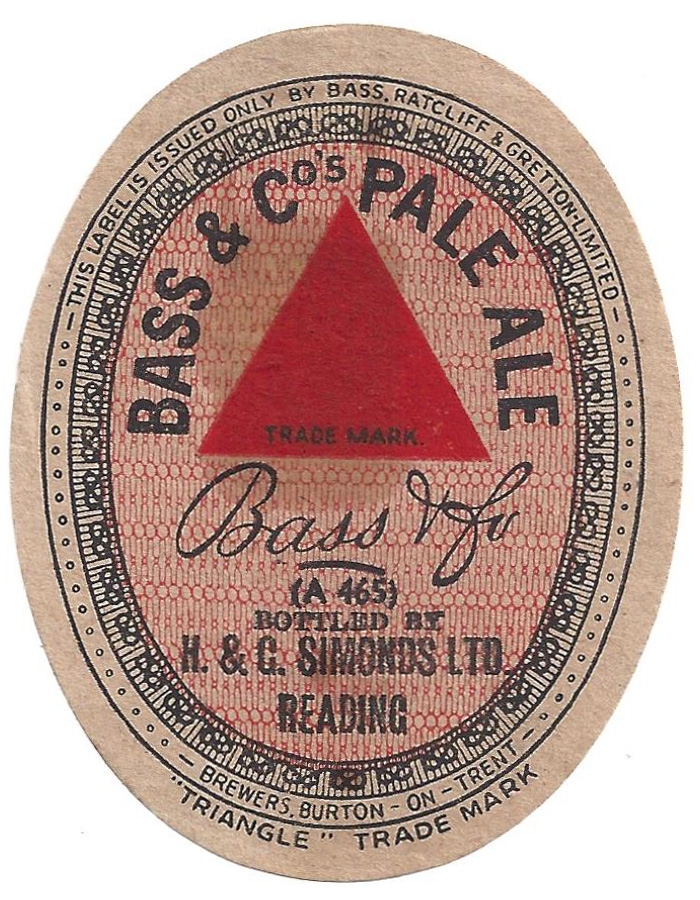 Bass Pale Ale Reading 1935